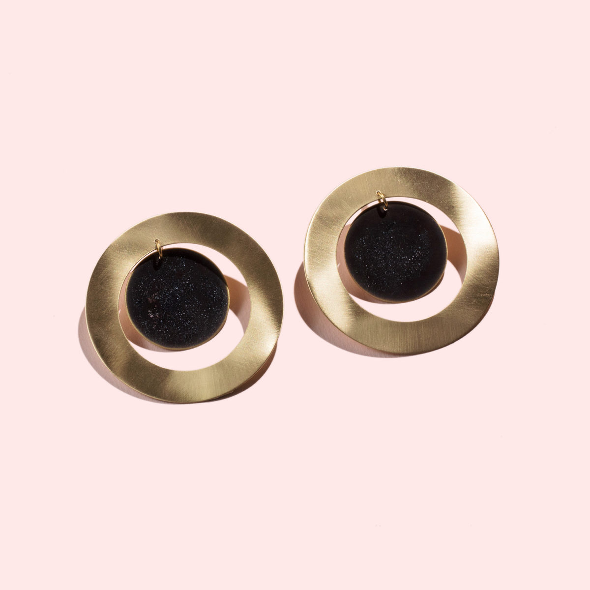 Black-and-tourquise-hoops-schwarz-gold-groß