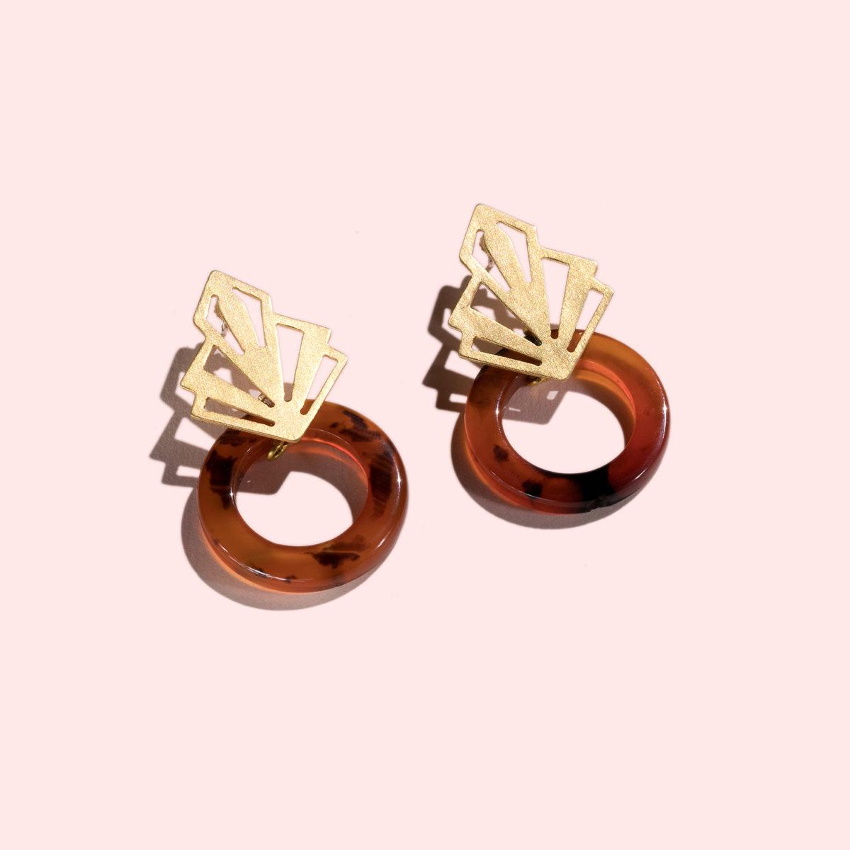 aksha-Ohrringe-Hoops-Ornament-Karneol-Hoops