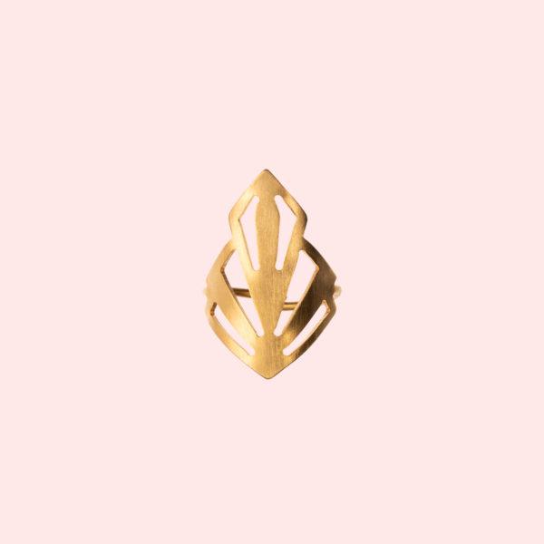 Ring Art Deco gold Marvel