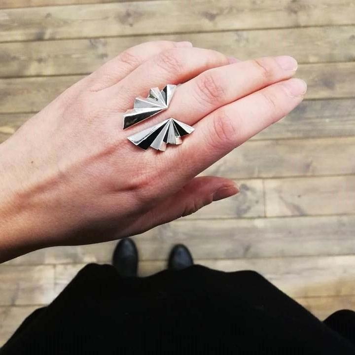Fold-Ring-silber-Model