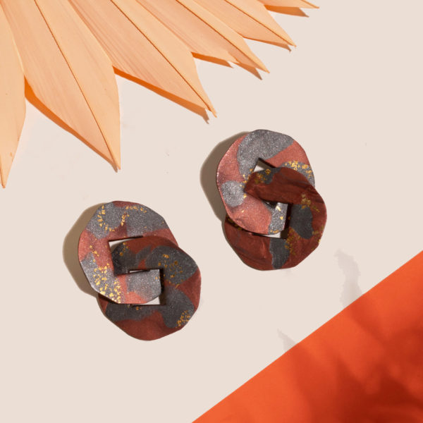 Ohrringe-Danae-Polymer-Clay-dunkel