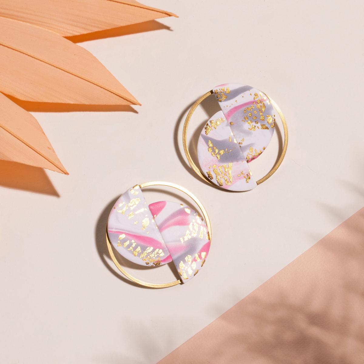 Ria-Ohrringe-Polymer-Clay-rosa-gold