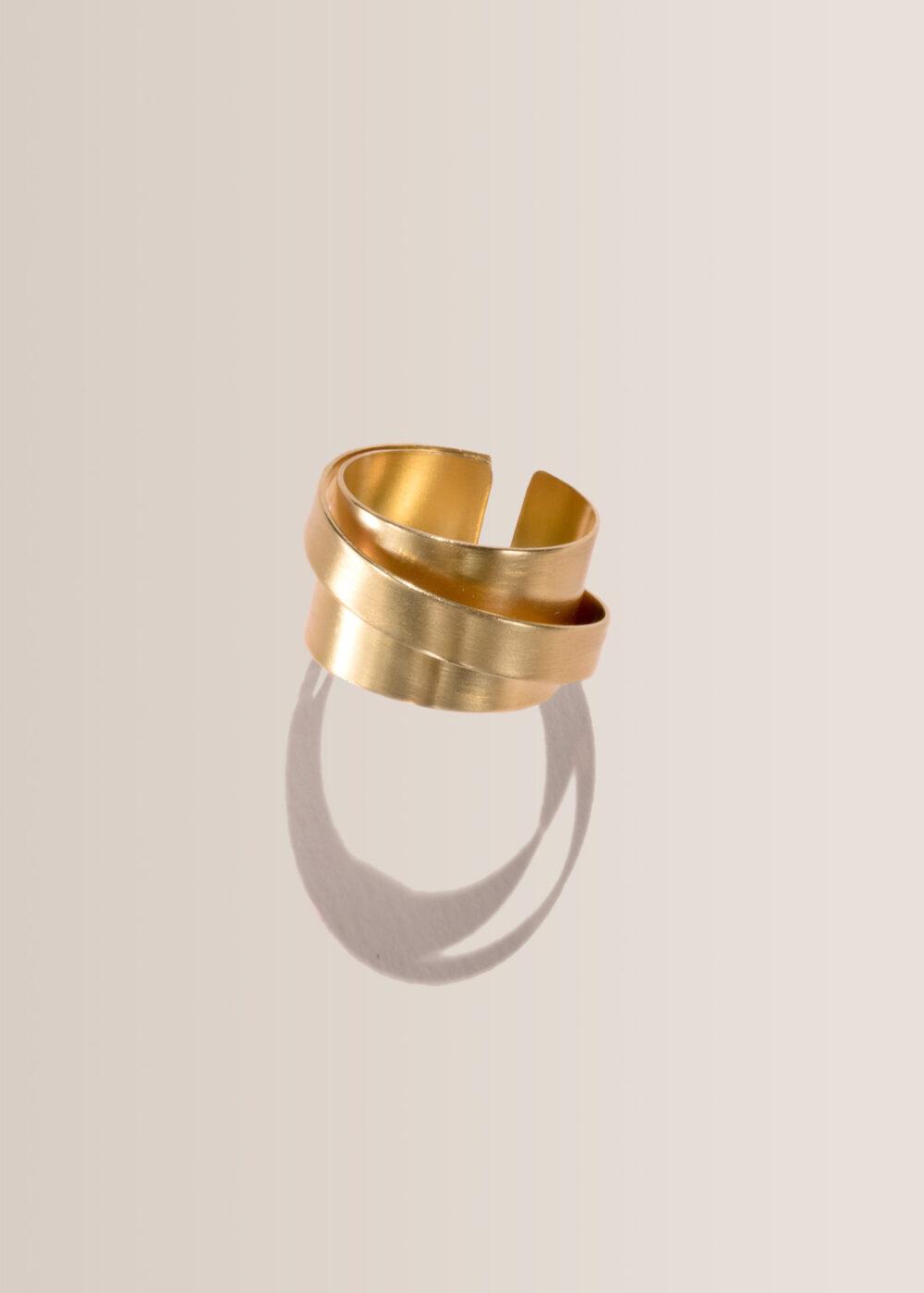 Olympia-Ring-gold-matt-ring-linien