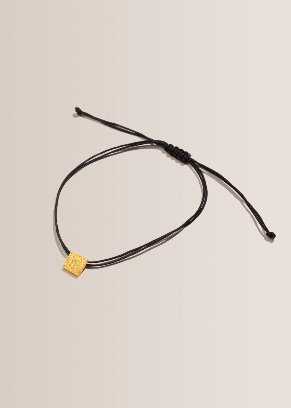 Armband-leder-Quadrat-gold