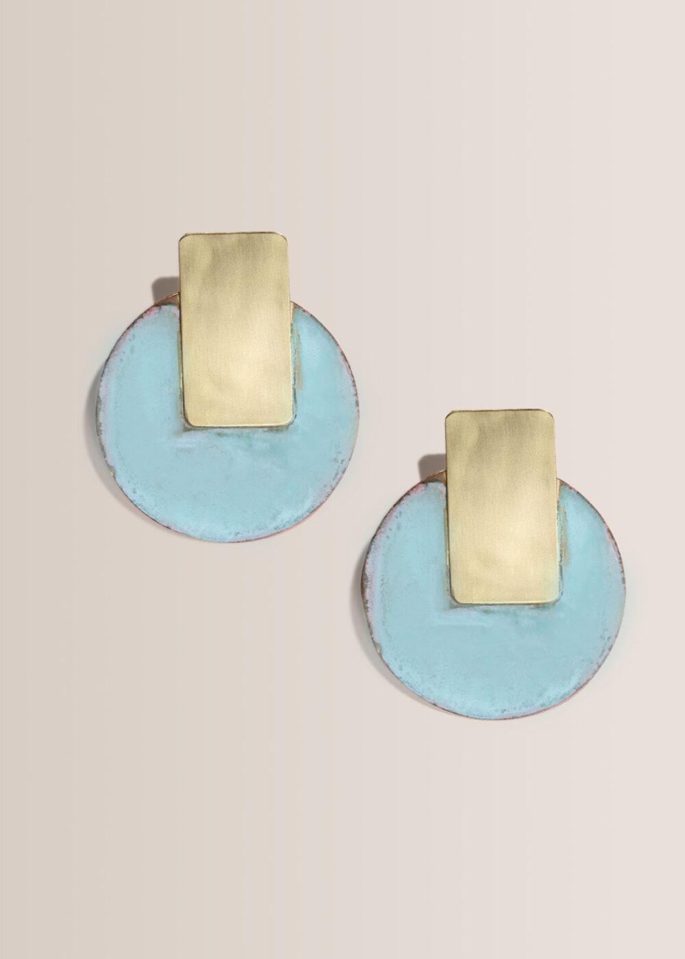 Dana-statementohrringe-rund-gold-tuerkis-oxidiert-matt