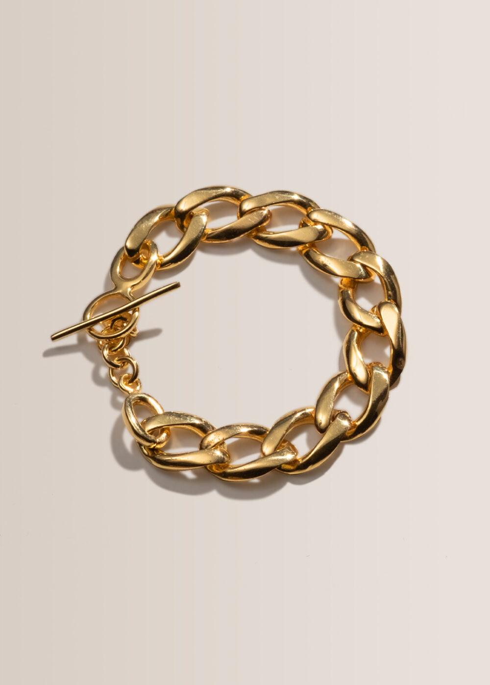 Athena-Gliederketten-Armband-gold-glaenzend