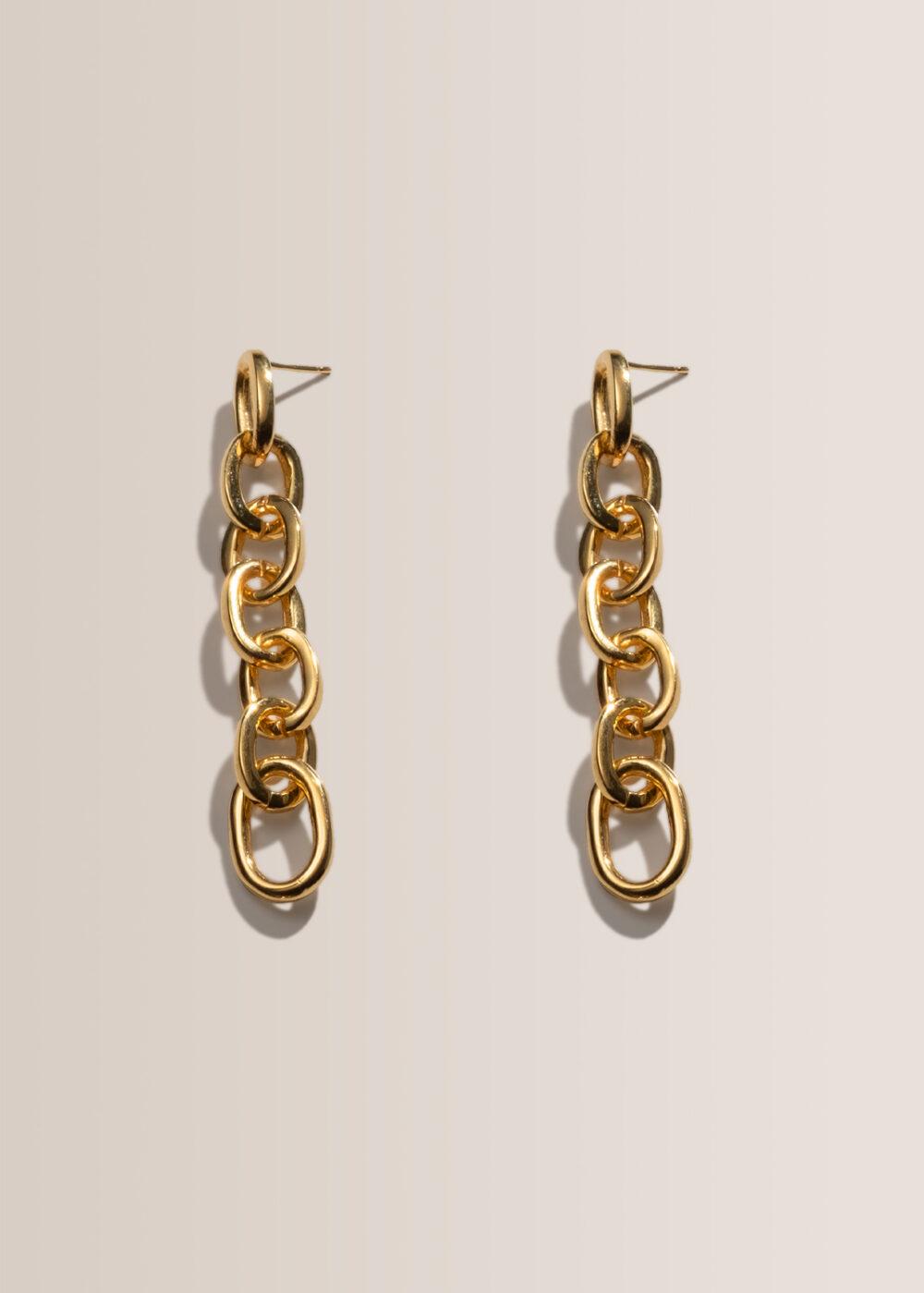 Athena-Ketten-Ohrringe-gold-glaenzend